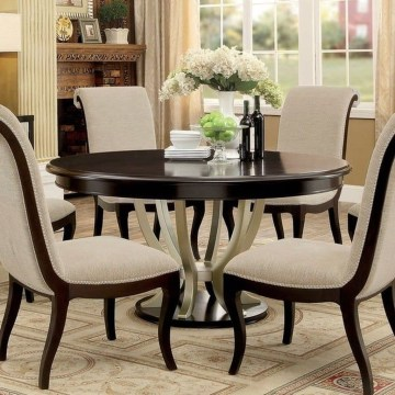 Striking Round Glass Table Designs Ideas For Dining Room 17