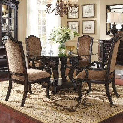 Striking Round Glass Table Designs Ideas For Dining Room 24