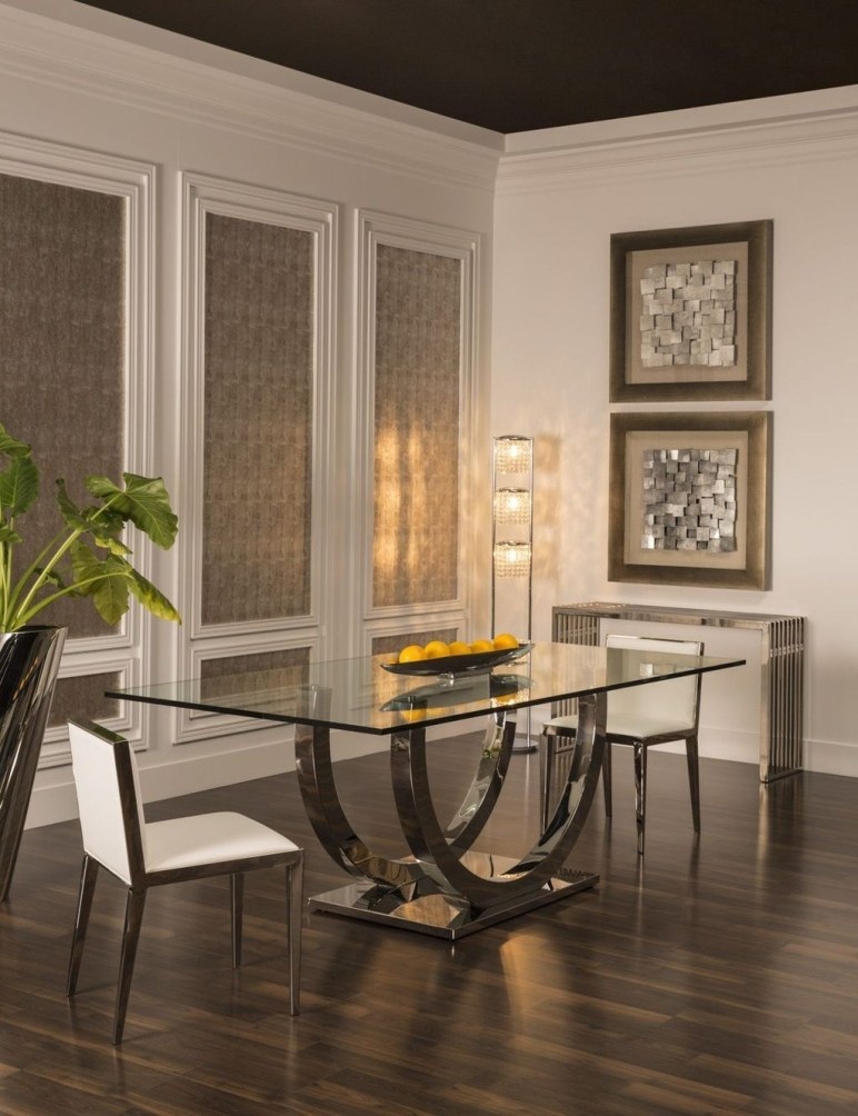 Striking Round Glass Table Designs Ideas For Dining Room 45