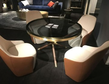 Striking Round Glass Table Designs Ideas For Dining Room 47