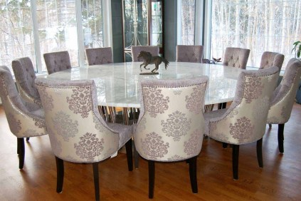Striking Round Glass Table Designs Ideas For Dining Room 49