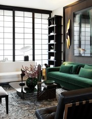 Catchy Living Room Designs Ideas With Bold Black Furniture 14