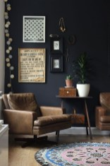 Catchy Living Room Designs Ideas With Bold Black Furniture 16