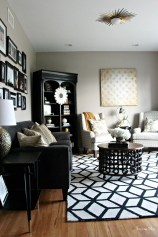 Catchy Living Room Designs Ideas With Bold Black Furniture 26