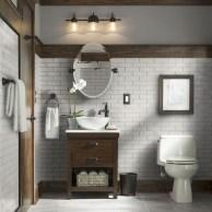 Cozy Small Bathroom Ideas With Wooden Decor 21