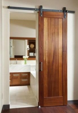 Cozy Small Bathroom Ideas With Wooden Decor 34