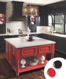 Creative Painted Kitchen Cabinets Design Ideas 23