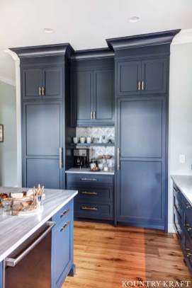 Creative Painted Kitchen Cabinets Design Ideas 32