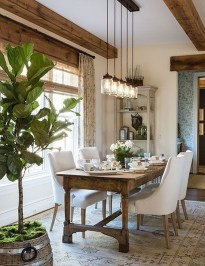 Cute Farmhouse Table Design Ideas Which Is Not Outdated 13