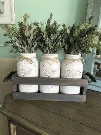 Cute Farmhouse Table Design Ideas Which Is Not Outdated 14