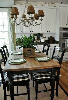Cute Farmhouse Table Design Ideas Which Is Not Outdated 15