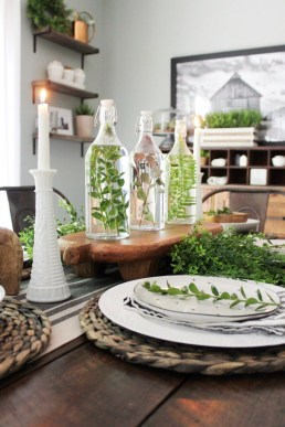 Cute Farmhouse Table Design Ideas Which Is Not Outdated 16