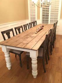 Cute Farmhouse Table Design Ideas Which Is Not Outdated 41
