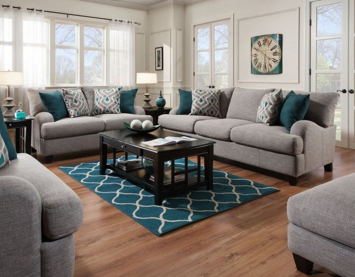 Enchanting Living Rooms Ideas With Combinations Of Grey Green 36