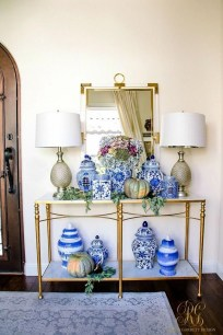 Fancy Living Room Decor Ideas With Ginger Jar Lamps 05