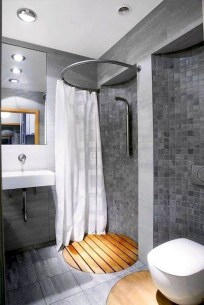 Awesome Bathroom Shower Ideas For Tiny House 56