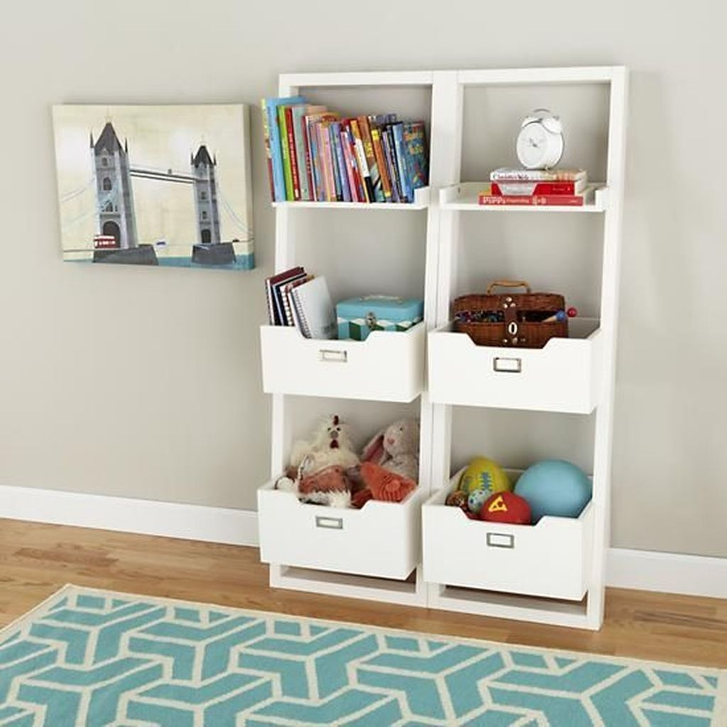 Cozy Bookcase Ideas For Kids Room 07