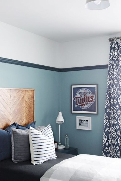 Cute Love Blue Ideas For Teenage Bedroom 14