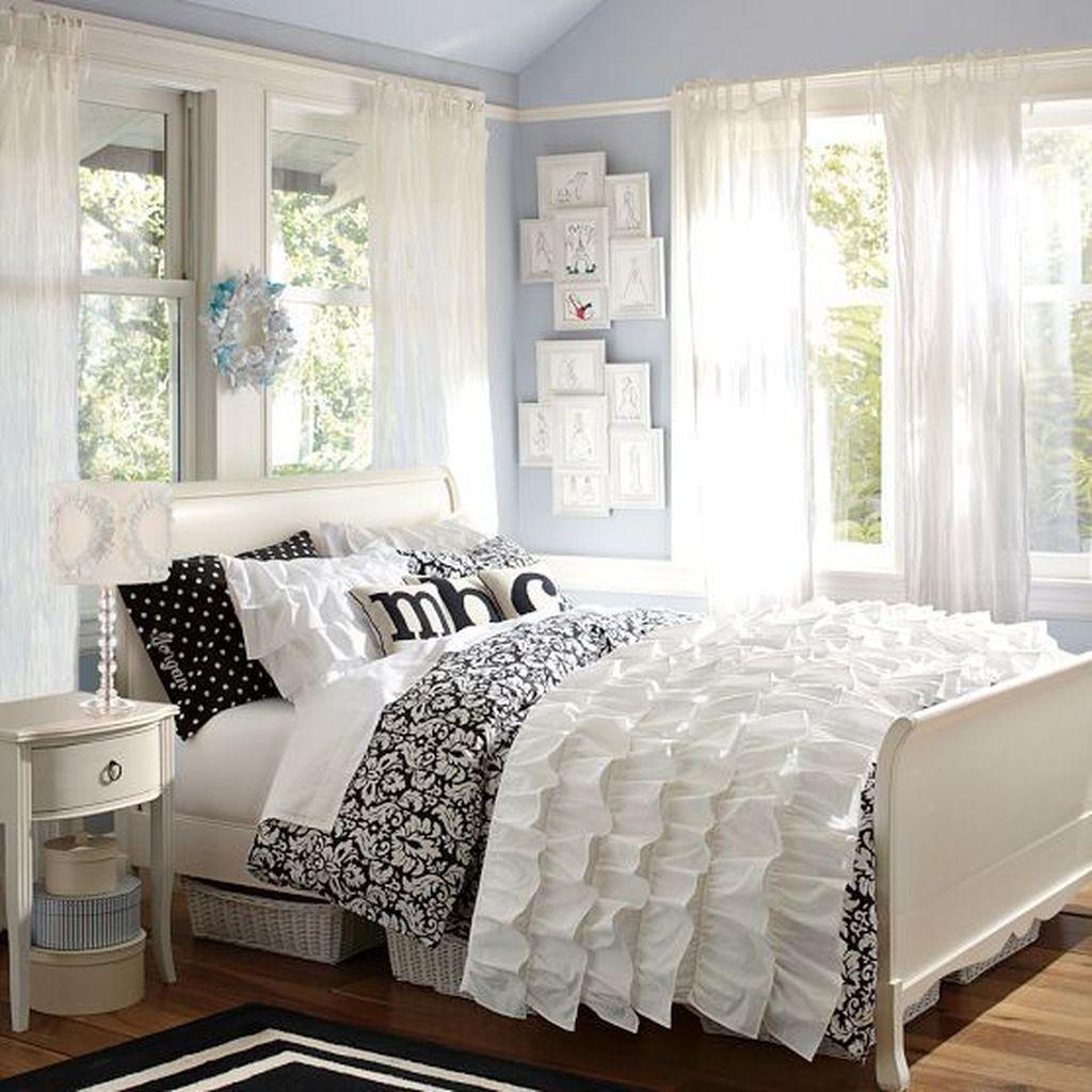 Cute Love Blue Ideas For Teenage Bedroom 17