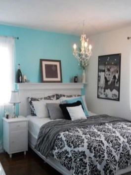 Cute Love Blue Ideas For Teenage Bedroom 24