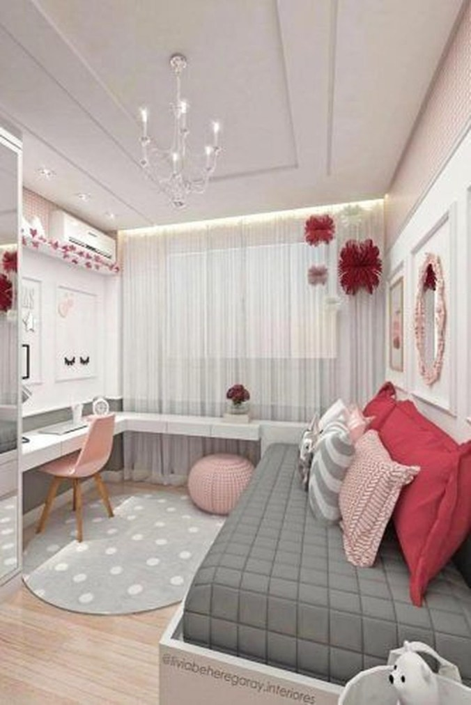 Cute Love Blue Ideas For Teenage Bedroom 31