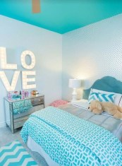 Cute Love Blue Ideas For Teenage Bedroom 32