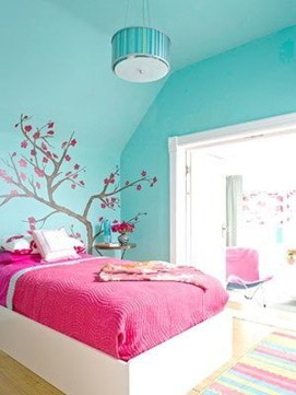 Cute Love Blue Ideas For Teenage Bedroom 34