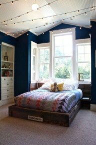 Cute Love Blue Ideas For Teenage Bedroom 42