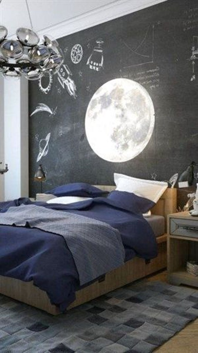 Cute Love Blue Ideas For Teenage Bedroom 44