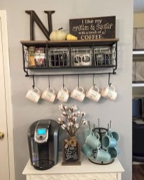 Affordable Diy Mini Coffee Bar Design Ideas For Home Right Now 20