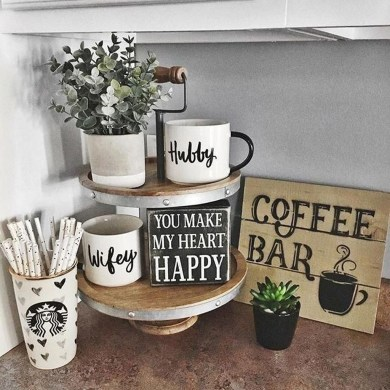 Affordable Diy Mini Coffee Bar Design Ideas For Home Right Now 25