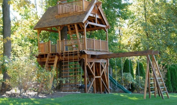 Captivating Treehouse Ideas For Children Playground 23