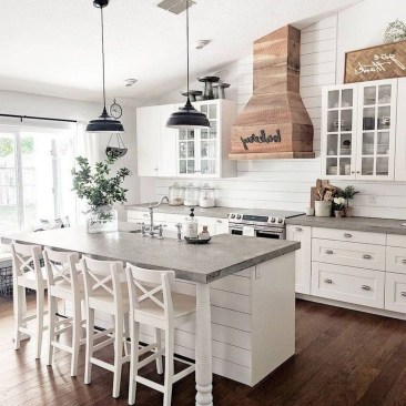 Enchanting Farmhouse Kitchen Decor Ideas To Try Nowaday 16