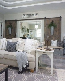 Fancy Farmhouse Living Room Decor Ideas To Try 11