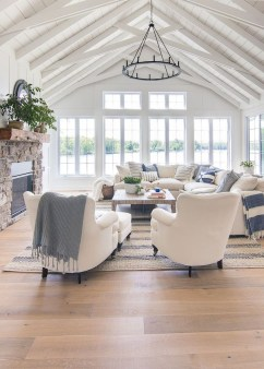 Fancy Farmhouse Living Room Decor Ideas To Try 39