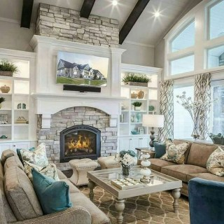 Fancy Farmhouse Living Room Decor Ideas To Try 54