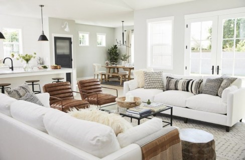 Fancy Farmhouse Living Room Decor Ideas To Try 55