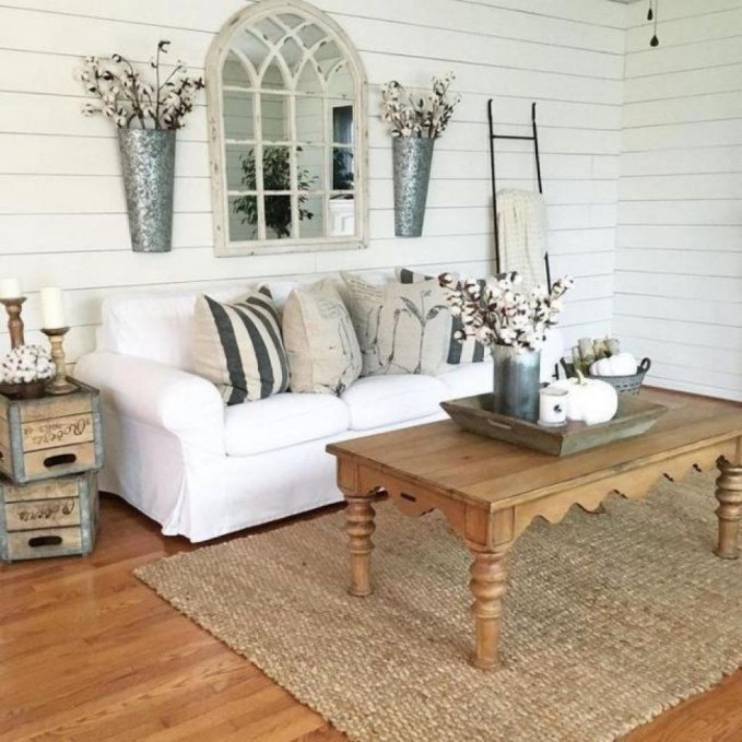 Hottest Farmhouse Living Room Decor Ideas That Looks Cool 48