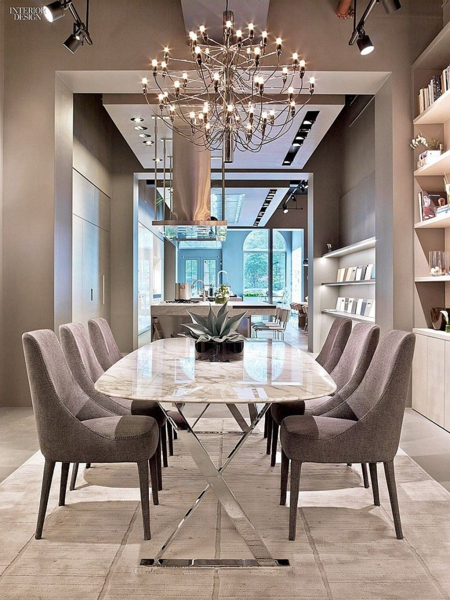 Trendy Dining Table Design Ideas That Looks Amazing 38