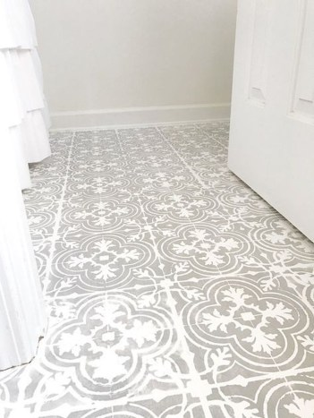 Unusual Diy Painted Tile Floor Ideas With Stencils That Anyone Can Do 07