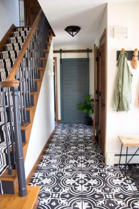 Unusual Diy Painted Tile Floor Ideas With Stencils That Anyone Can Do 52