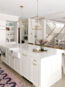 Unusual White Kitchen Design Ideas To Try 45