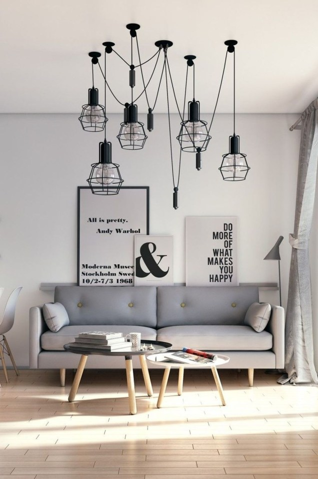 Attractive Small Living Room Decor Ideas With Perfect Lighting 55