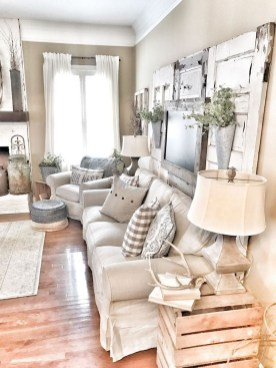 Catchy Farmhouse Decor Ideas For Living Room This Year 15