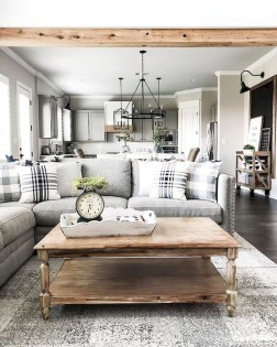 Catchy Farmhouse Decor Ideas For Living Room This Year 23