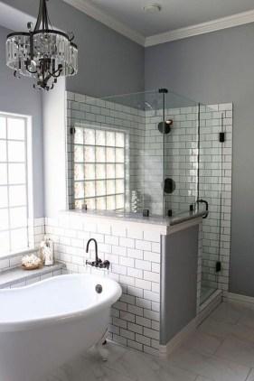 Chic Farmhouse Bathroom Desgn Ideas With Shower 32