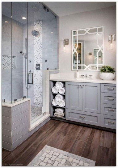 Chic Farmhouse Bathroom Desgn Ideas With Shower 46