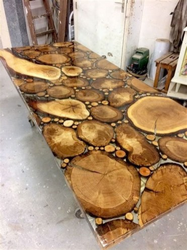 Impressive Home Furniture Ideas With Resin Wood Table 15