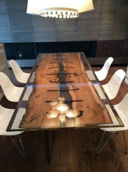Impressive Home Furniture Ideas With Resin Wood Table 28