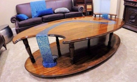 Impressive Home Furniture Ideas With Resin Wood Table 33